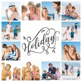 Collage-moderne-voyage-vacances-de-famille