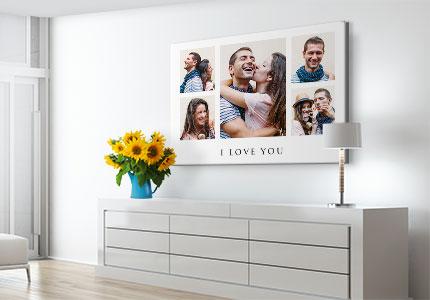 chambre-collage-toile-love