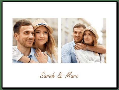 Collages de 2 photos avec texte