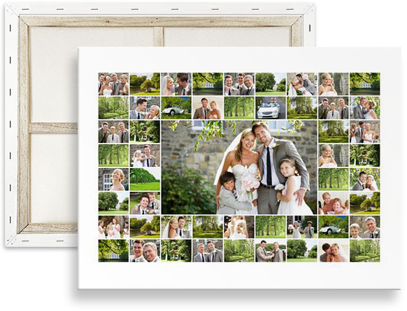 photo collage 50 photos sur toile