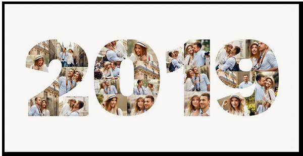 Collage photo de bonne année