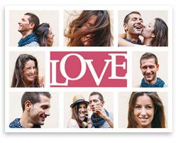Collage photo love