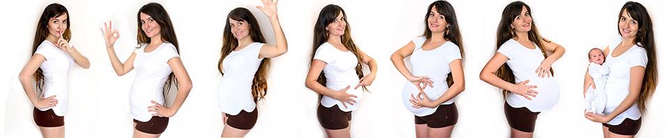 evolution grossesse collage